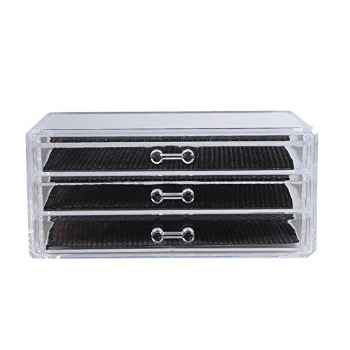 iTemer Material de acrílico Caja de almacenamiento de cosméticos Caja de almacenamiento...