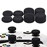 YoRHa Profesional Thumb Grips Thumbstick de los Pulgares Cubierta del Joystick (Negro) Extra Alto 8 Unidades Paquete para Xbox One, Xbox One X, Xbox One S, Switch Pro Controller Mando