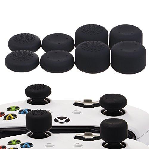 YoRHa Professionnelles Thumb Grips Poignées Capuchon Pouce Extra Large Pack de (Noir) 8 unités pour Xbox One, Xbox One X, Xbox One S, Switch Pro Manette