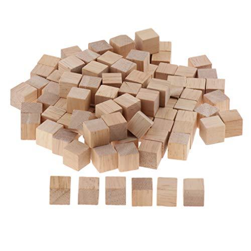 sharprepublic Juego de Cubos de Juguete de Bloques de Construcción de Madera de 500 Piezas