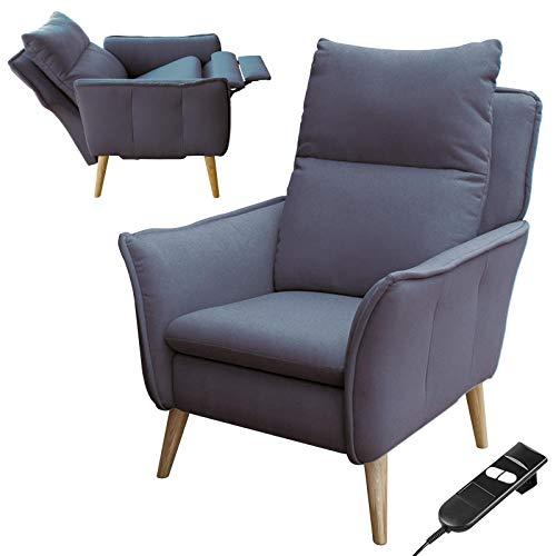 place to be Sillón de relax motorizado Insideout con respaldo XXL con mando a distancia y batería, roble macizo