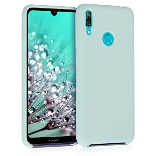 kwmobile Hülle kompatibel mit Huawei Y7 (2019) / Y7 Prime (2019) - Hülle Handyhülle gummiert - Handy Hülle in Mintgrün