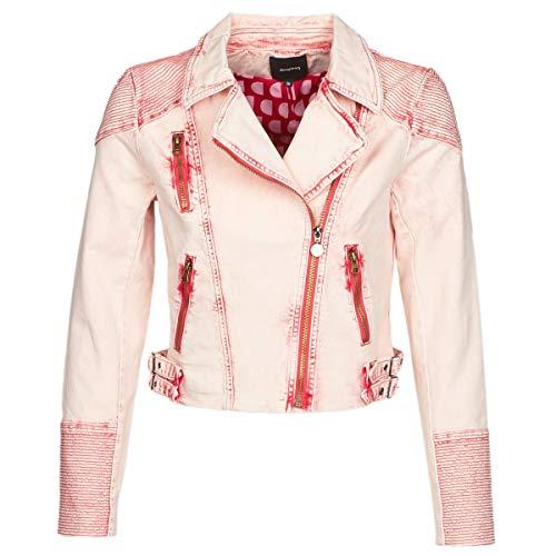 Desigual Platte Jacken Damen Rose - DE 38 (EU 40) - Jeansjacken Outerwear