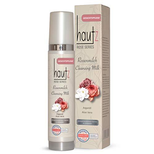 HAUTz Cleansing Milk - Reinigungsmilch - Rosenmilch - Natürlich, schonend und feuchtigkeitsspendend - Gesichtsreinigung mit Aloe Vera und Arganöl, 200ml