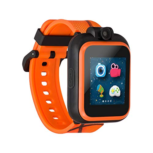 iTouch Playzoom Kids Smart Watch with Swivel Camera, Photo Filters, Video Recorder, Stopwatch, Calendar, Sound Animations, Educational and Active Games (Basketball)
