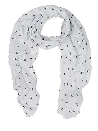 Zwillingsherz Seiden-Tuch Damen Flamingo Muster - Made in Italy - Eleganter Sommer-Schal für Frauen - Hochwertiges Seidentuch/Seidenschal - Halstuch und Chiffon-Stola stilvolles Muster blau