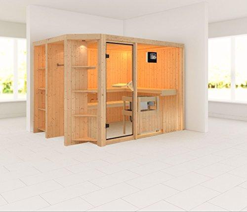 Karibu Elementsauna / Sauna Cara mit Bio Saunaofen