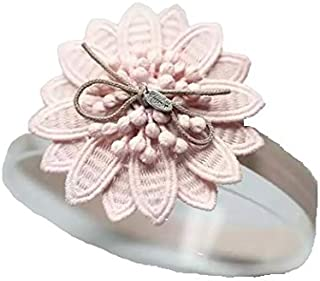 Gray Lace & Nude Pink Flower Hair Accessories for baby girl head band hair band headwear