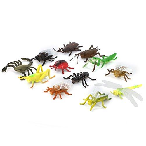 Insekten Spielzeug Spieltier Insect Tier Spielzeug SPIELZEUG Bunt 12 stk