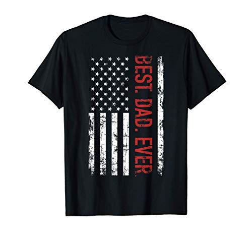 El mejor padre regalo bandera americana para día del padre Camiseta