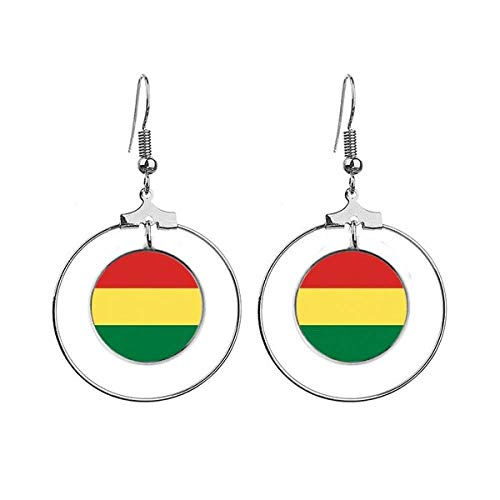 Bolivia Vlag Land Symbool Mark Patroon Oorbellen Dangle Hoop Sieraden Drop Cirkel