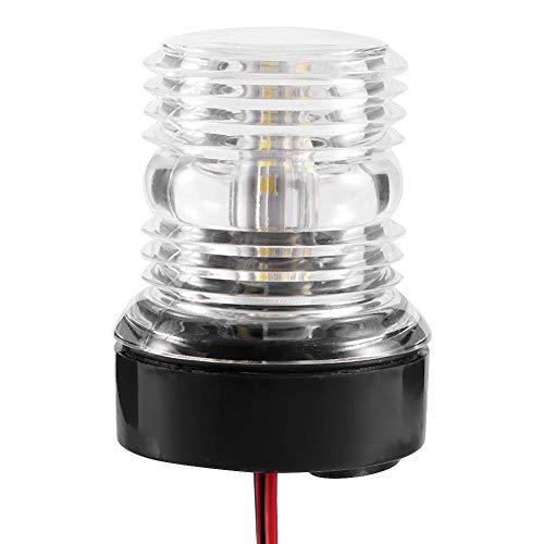 Akozon LED Boat LightNavigation Signal LightSignal LightSignal Lamp 360 LED Waterproof Boat Navigation Anchor Light 12V White