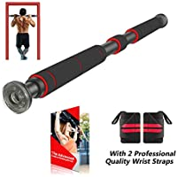 AmazeFan Pull Up Bar for Doorway with Extended Hand Grips