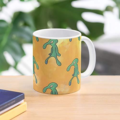 White Coffee Mug 11oz Funny Pattern Mug Bold and Brash Yellow Mug
