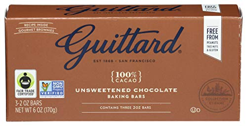 Guittard, Bar Chocolate Baking Unsweetened, 2 Ounce, 3 Pack