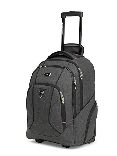 High Sierra Endeavor Carry-On Wheeled Backpack (Mercury Heather/Black)