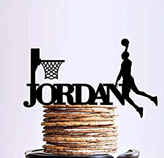 Custom Name Basketball Cake Topper, Female and Male Basketball Players, Sport Cake Topper, Basketball Birthday Party, Basketball Theme Party Decor, Basketball Smash Cake Topper