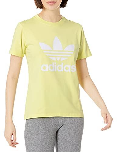 adidas Originals Women's Trefoil Tee, Pulse Yellow, Medium