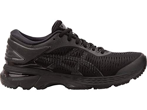 ASICS Women's Gel-Kayano 25 Running Shoes, 11M, Black/Black
