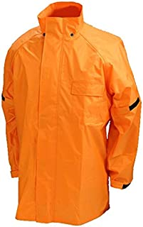 JUQUE(ジュクー) バイク用レインウエア 2パンツ セパレート オレンジ LLBサイズ RJ-009 レインウェア