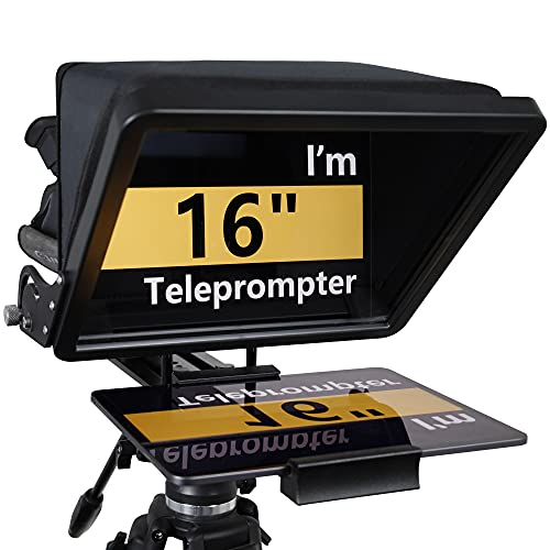 "GONGYI G16 Large 16"" Professional Teleprompter iPad Pro 12.9"" Beam Split Glass with Professional Case"