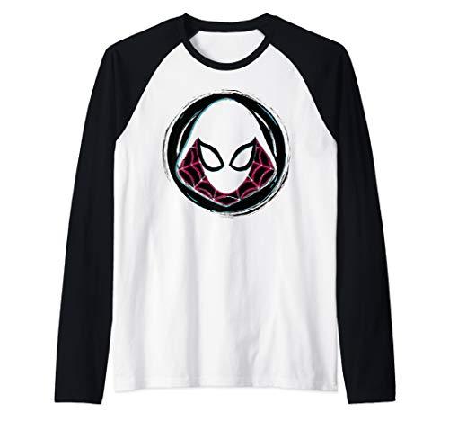 Marvel Spider-Gwen Face Symbol Badge Raglan Baseball Tee