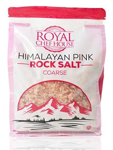 Himalayan Pink Salt 5 lbs Coarse Grain Bulk Bag - Hymalain Pure Gourmet Crystals - Himilian 100% Natural - Contains 84 Minerals -Suitable for Body Bath Scrubs Table Salt Grinder & Salt Mills - Kosher