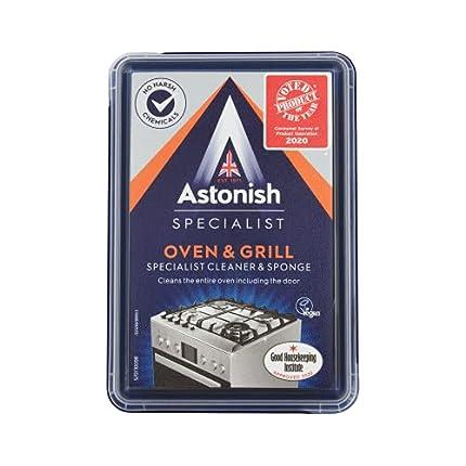 Astonish Specialist Limpiador y esponja para horno y parrilla, 250 g