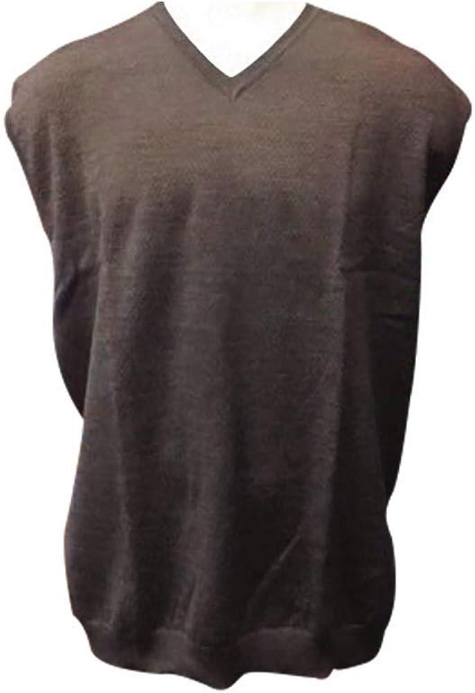 Big and Tall Wool Blend Mini Dot Italian Styled Sleeveless Sweater Vest