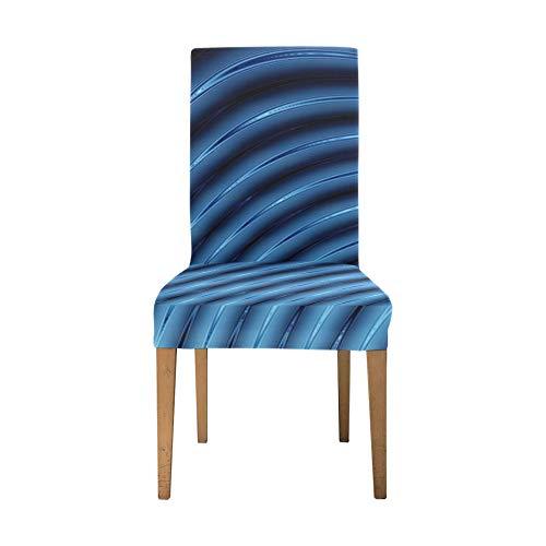 Fundas para sillas Estiramiento Abstracto 3D Líneas Azules Licuadora Funda para Silla...