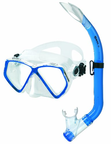Mares Kinder Maske plus Schnorchel Set Zephir Junior Tauchmaske, Blue/Clear, One size