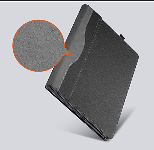 For Lenovo ThinkPad X1 Carbon 14 Inch 2017/2018 Version Laptop Case Cover PU Leather Notebook Protective Sleeve (X1 Carbon 2017/2018, grey)