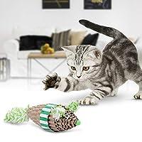 𝐍𝐞𝒘 𝐘𝐞𝐚𝐫'𝐬 𝐃𝐞𝐚𝐥 安全な猫の引っかき傷、かわいいマウス紫の猫の引っ掻きマウス、猫の引っかき傷のための無毒の猫のマウス(green)【クリスマスプレゼント、ニューイヤーギフト】