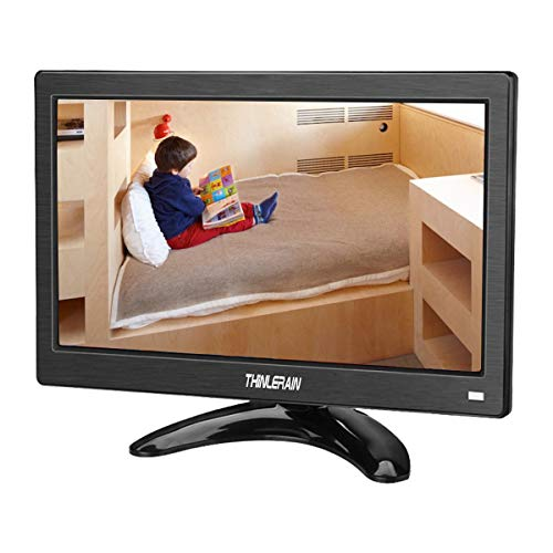 12 inch LCD IPS Screen CCTV PC Monitor 1366 x 768 Portable Monitors Full View HDMI Industrial LED...