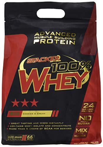Stacker2 100% Whey Protein Proteinshake Eiweißshake Eiweiß Bodybuilding (Cookies & Cream 2 kg)