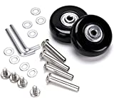 F-ber Luggage Suitcase Replacement Wheels Kit 60mm x 18mm with ABEC 608zz Skate, Inline Outdoor Skate Replacement Wheels, One Set of (2) Wheels (OD:60 W:18 ID:6 Axles:35)