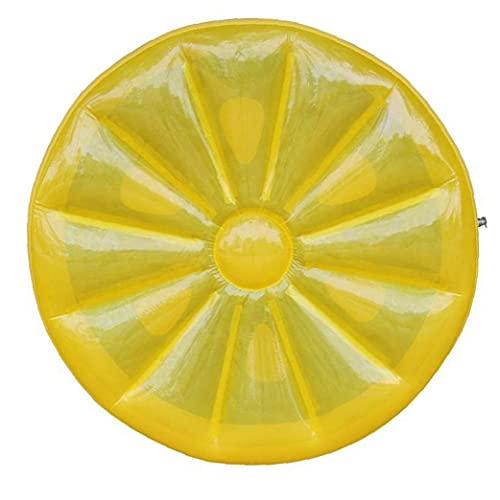 Piscina tumbona tapón redondo inflable limón flotante de balsa de agua juguete de juguete de juego estera amarillo polvo a prueba de polvo sencillo