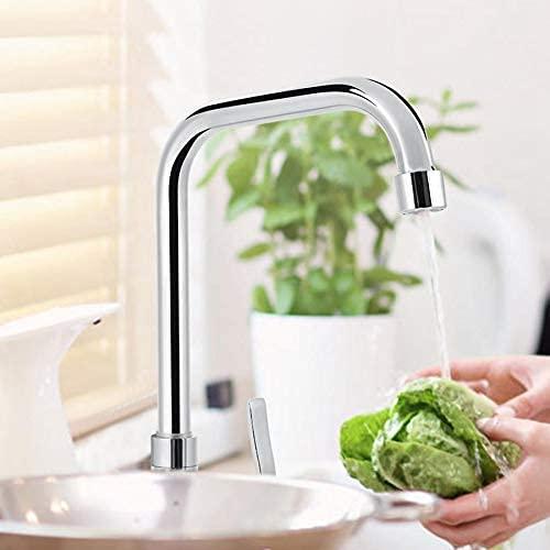 Grifo de fregadero de una manija G1 / 2in para cocina, grifo de agua fría giratorio de 360 grados, suministros de baño, robinet salle de bain