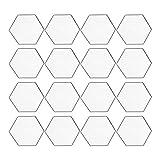 yyuezhi 12pcs Pegatinas Pared Espejo Hexagonales Espejo Acrílico Adhesivos de...