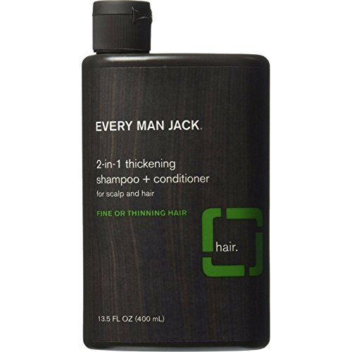 Every Man Jack 2-in-1 Thickening Shampoo & Conditioner 13.50 oz ( Pack of 3)