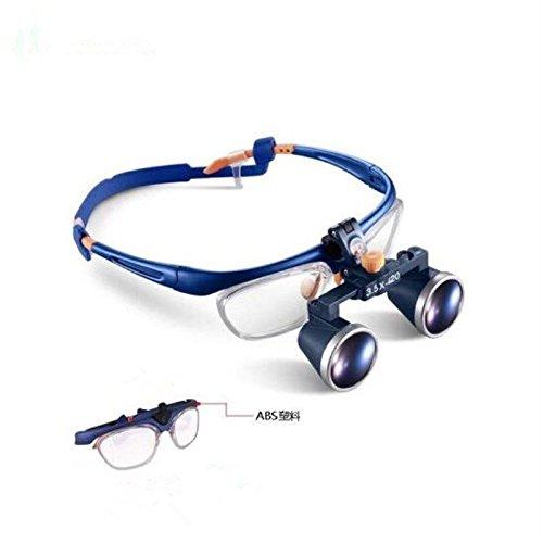 zgood Dental Fernglas Galileo Medical Rahmen Lupe Lupe Gläser Glas 3,5x 420mm fd-503g