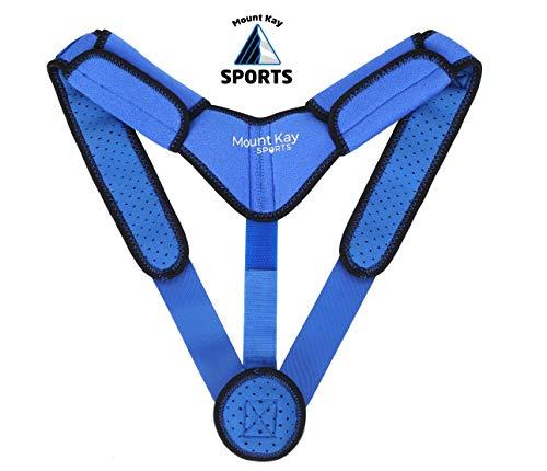 Mount Kay SPORTS - Estabilizador de espalda para corrección de posturas para hombre y mujer para soporte activo de la columna vertebral, entrenamiento de postura y soporte de espalda
