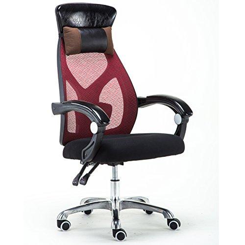 BLWX - Chaise pivotante chaise ordinateur chaise accueil maille personnel chaise de bureau chaise ergonomique chaise pivotante siège patron chaise Chaise pivotante (Couleur : F)