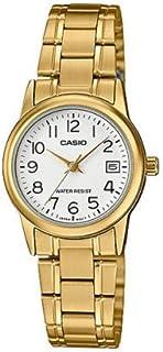 Casio Womens Quartz Watch, Analog Display and Stainless Steel Strap LTP-V002G-7B2UDF