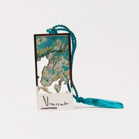 Official Van Gogh Museum Amsterdam - Bookmark Almond Blossom - Lesezeichen aus Metall - Laser geschnitten - Mandelblüte von Vincent van Gogh