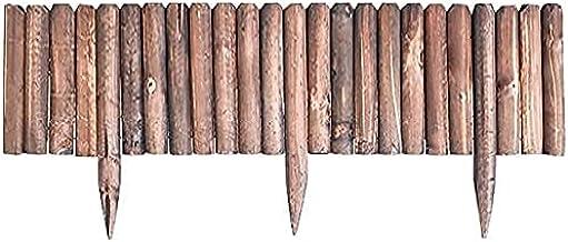 WXking Decoratieve omheiningen fee tuin accessoires fairy tuinbenodigdheden grenen hout instant houten rand log roll rand ...