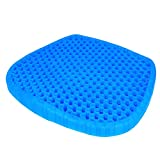 2021 New Gel Seat Cushion for Office Chair Desk Chair Car Seat, Pressure Relief Large Size Gel Chair Cushion, Ergonomic Design, Sciatica & Back Tailbone Pain Relief