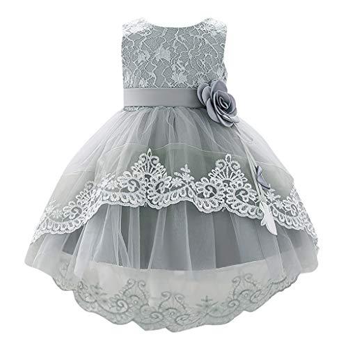 XXYsm Baby Mädchen Prinzessinenkleid Taufe Kleidung Ärmellos Tüllrock Kleinkind Blumen Ballkleid Hochzeit Sissi Kleider