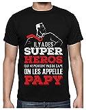 Papy Super Héros Qui ne Portent Pas de Cape T-Shirt Homme Large Noir