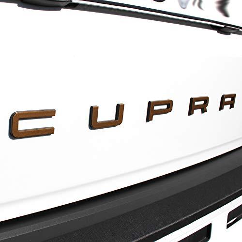 Cupra Schriftzug Folie Cover passgenau für Emblem Aufkleber (K109 .Kupfer Matt Metallic)